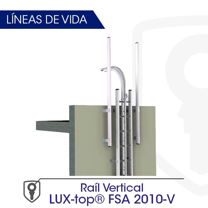 Línea de vida de Raíl vertical LUX-top FSA 2010-V - LUXTOP Sistemas Anticaídas, Calle Talabarteros, Herencia, España