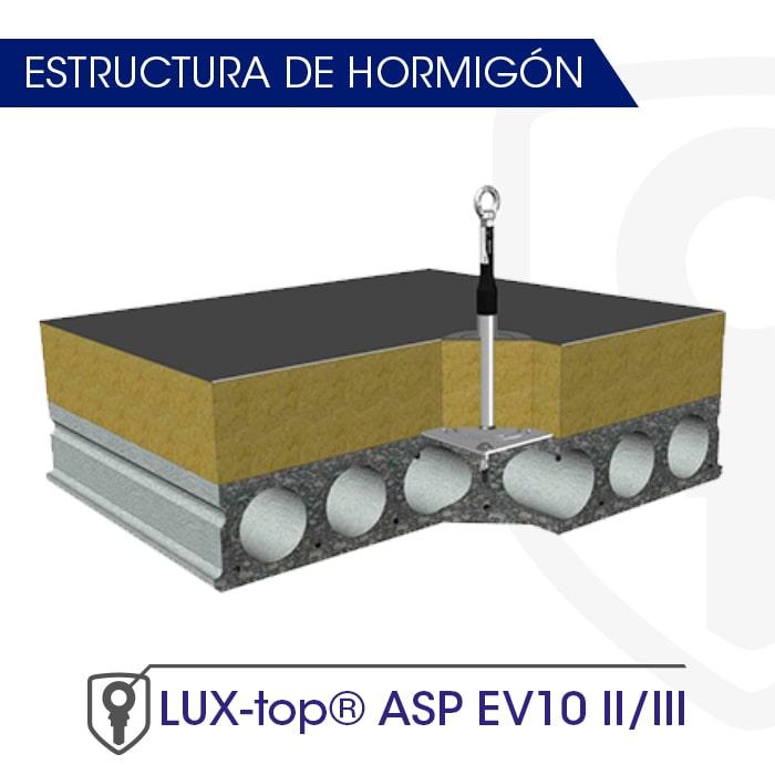 LUX-top ASP EV10 II-III estructura de hormigón - LUXTOP Sistemas Anticaídas, Calle Talabarteros, Herencia, España