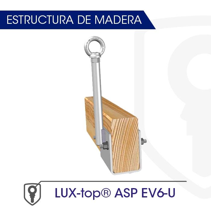LUX-top ASP EV6-U Contraplaca estructura de madera - LUXTOP Sistemas Anticaídas, Calle Talabarteros, Herencia, España