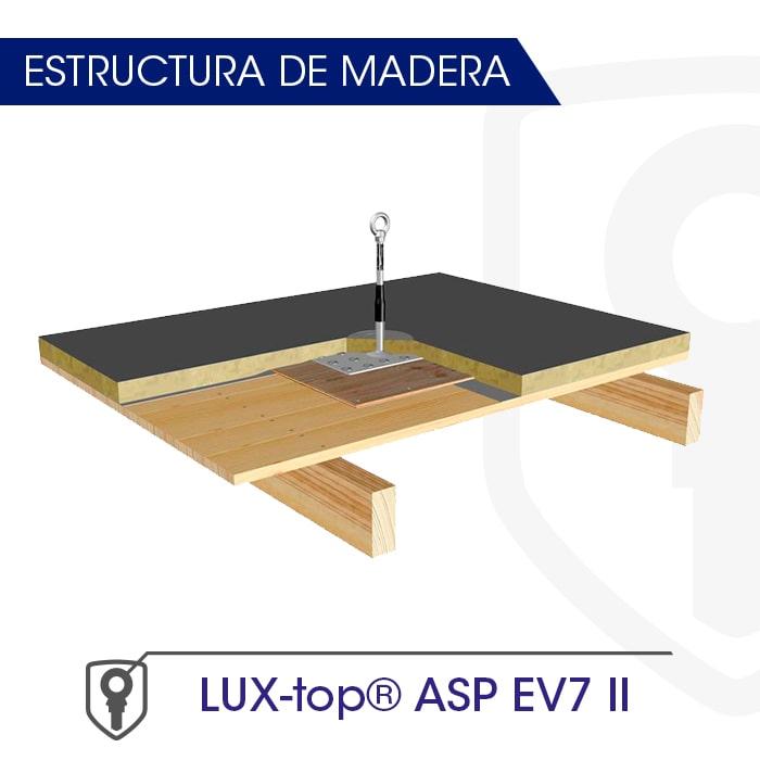 LUX-top ASP EV7 II estructura de madera - LUXTOP Sistemas Anticaídas, Calle Talabarteros, Herencia, España
