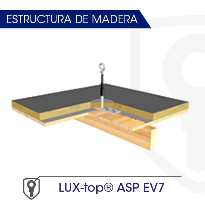 LUX-top ASP EV7 estructura de madera - LUXTOP Sistemas Anticaídas, Calle Talabarteros, Herencia, España
