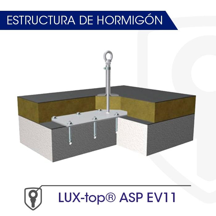 LUX-top ASp EV11 estructura de hormigón - LUXTOP Sistemas Anticaídas, Calle Talabarteros, Herencia, España