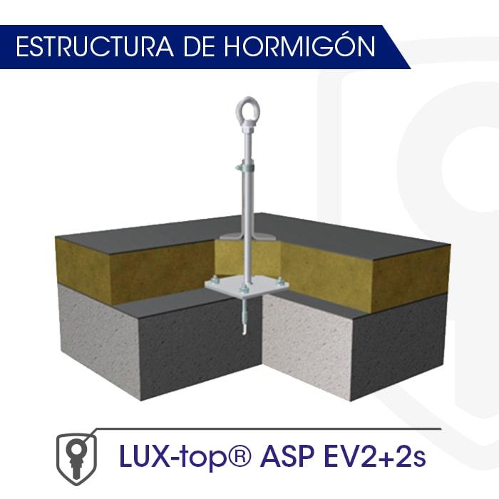 LUX-top ASp EV2+2s estructura de hormigón - LUXTOP Sistemas Anticaídas, Calle Talabarteros, Herencia, España