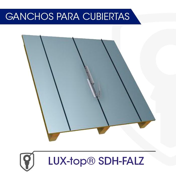 LUX-top SDH-FALZ Ganchos para cubiertas - LUXTOP Sistemas Anticaídas, Calle Talabarteros, Herencia, España