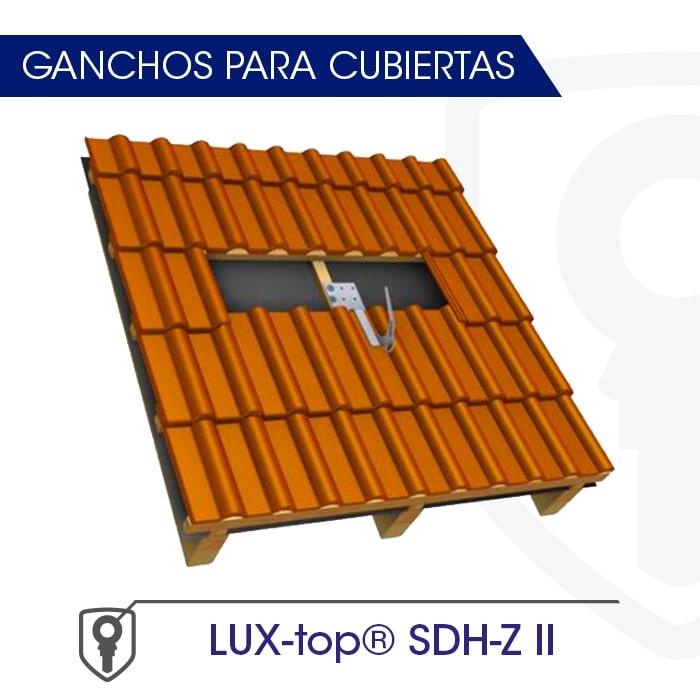 LUX-top SDH-Z II Ganchos para cubiertas - LUXTOP Sistemas Anticaídas, Calle Talabarteros, Herencia, España