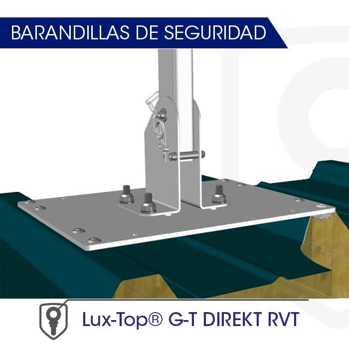 Barandilla montaje directo a soporte LUX-top G-T DIREKT - RVT - LUXTOP Sistemas Anticaídas, Calle Talabarteros, Herencia