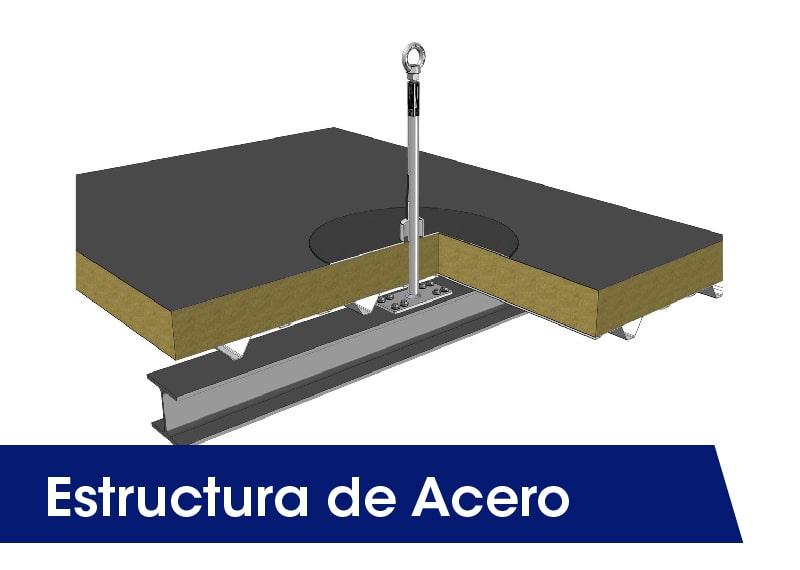 Estructura de acero - LUXTOP Sistemas Anticaídas, Calle Talabarteros, Herencia, España