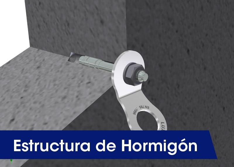 Estructuras de hormigón - LUXTOP Sistemas Anticaídas, Calle Talabarteros, Herencia, España