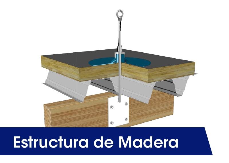 Estructura de madera - LUXTOP Sistemas Anticaídas, Calle Talabarteros, Herencia, España