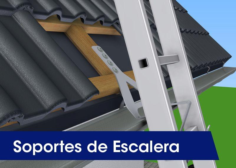 Soportes de escalera - LUXTOP Sistemas Anticaídas, Calle Talabarteros, Herencia, España